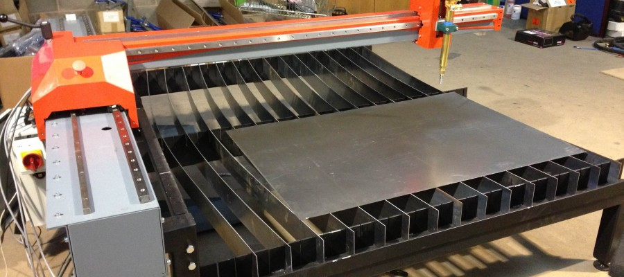 Unique foldaway design for Yorkshire-based Techserv Cutting Systems Ltd's small cutting machine